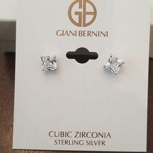 Giani Bernini Sterling silver 2ct earrings